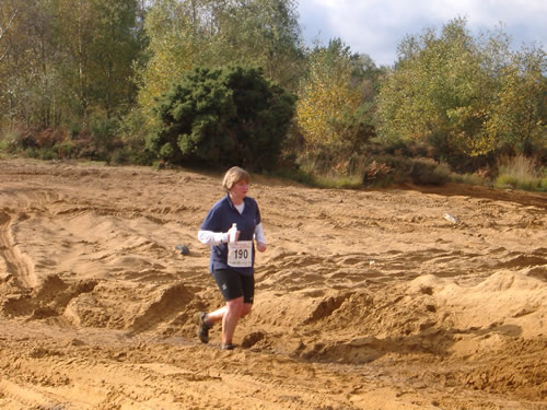 Michelle at the Hellrunner race, 17/10/2004